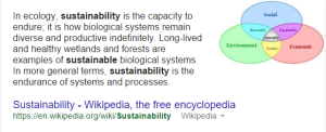 sustainability Google Search
